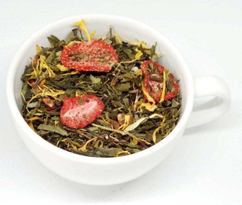 9 Skarbów Chin to połączenie zielonej herbaty z białą herbatą
