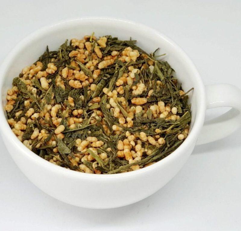 Genmaicha Japan Style to połączenie zielonej herbaty z prażonym ryżem