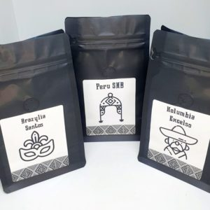 Zestaw Kaw Speciality Brazylia Santos, Peru SHB, Kolumbia Excelso
