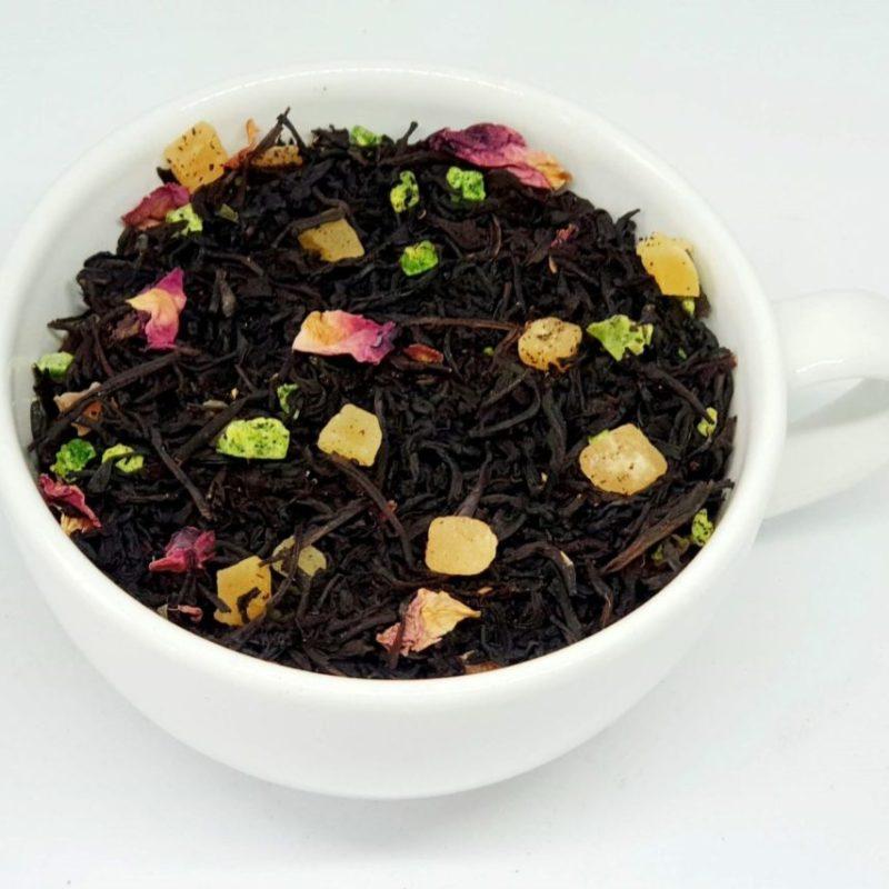 Herbata Czarna Jesienny Spacer z melonem, mango i papają