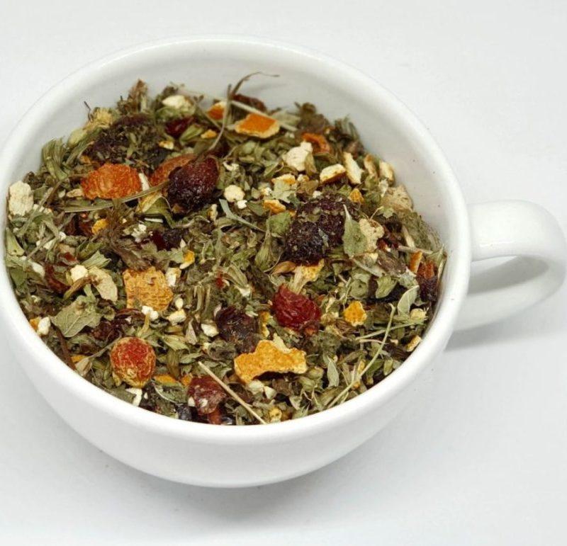 Herbata Ziołowa z Imbirem i Żurawiną