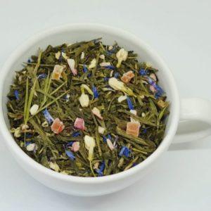 Śpiew Skowronka Zielona Herbata z dodatkiem rabarbaru