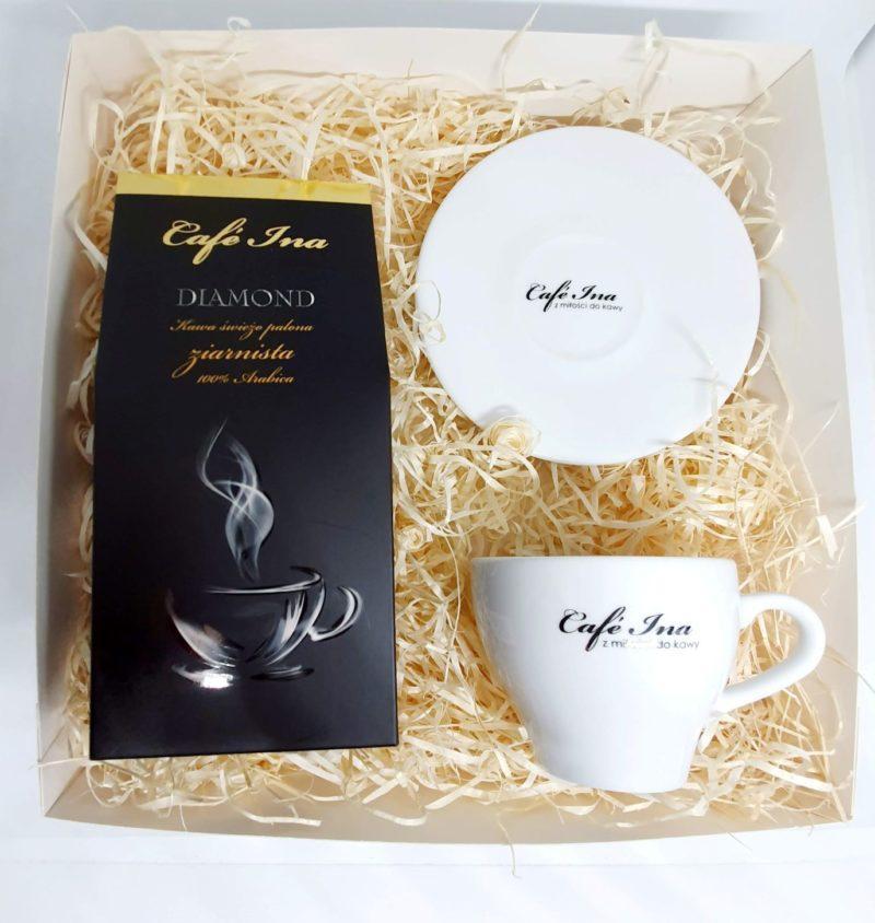 Zestaw Cafe Ina Premium z filiżanką ze spodkiem do Americano