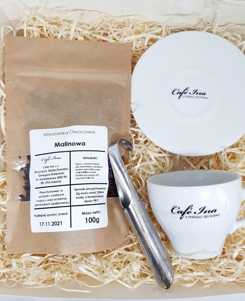 Zestaw Herbata z zaparzaczem i filiżanką