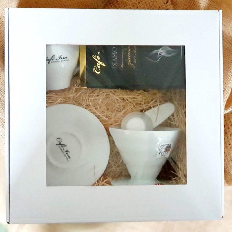 Zestaw prezentowy kawowy z filiżanką i dripem