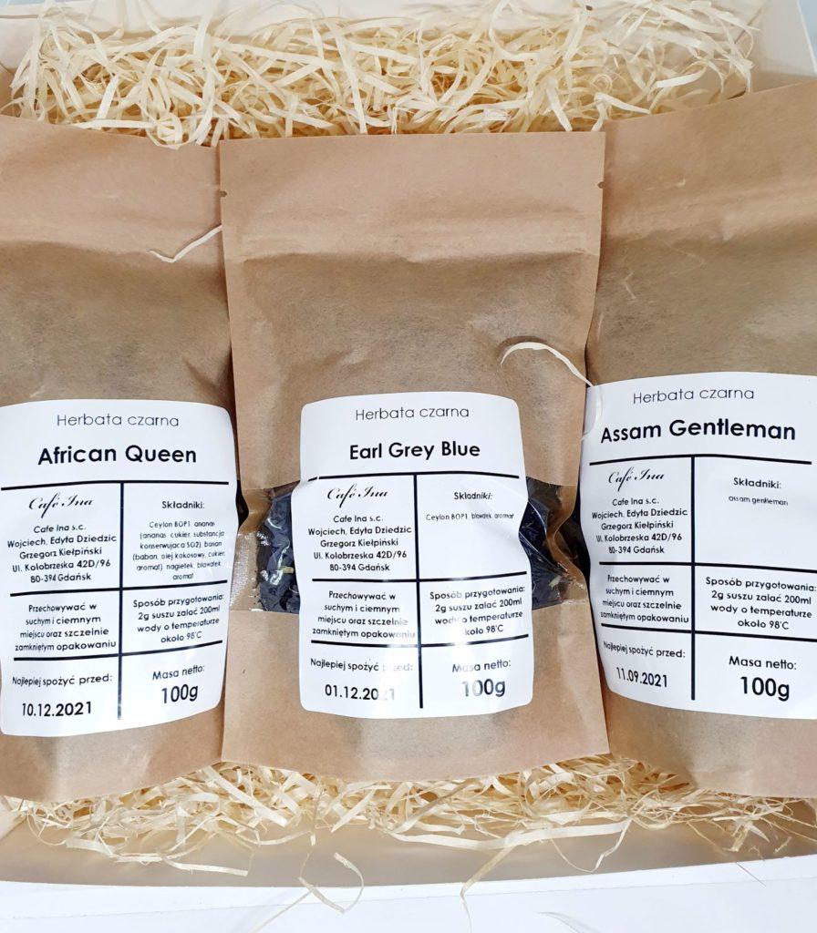 Zestaw Herbat Czarnych z zaparzaczem w ozdobnym pudełku