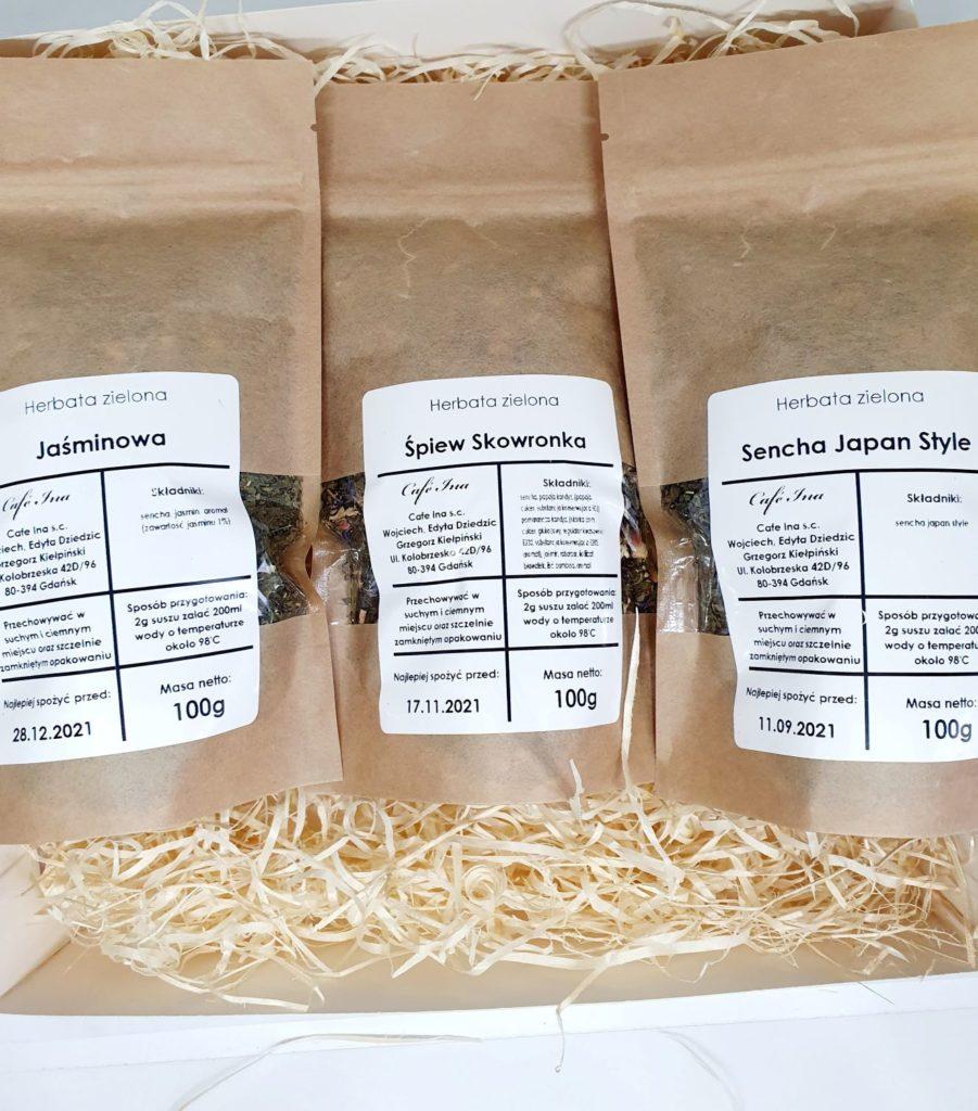 Zestaw Herbat Zielonych z zaparzaczem w ozdobnym pudełku